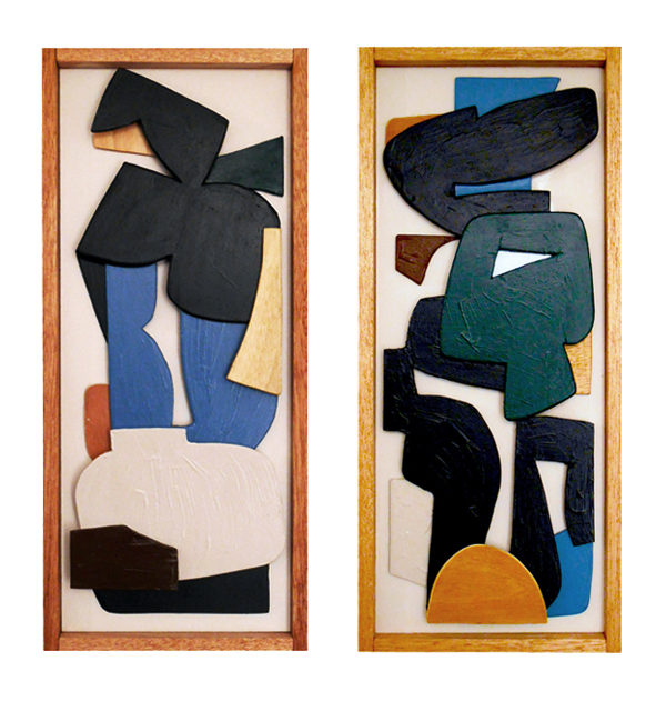 Wood collages by Olivier Vrancken